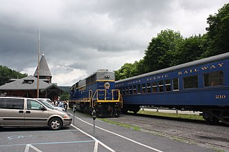 Reading Blue Mountain and Northern Railroad - The Lehigh Gorge Scenic Railway station in Jim Thorpe