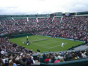 History of tennis - Players on a roofless centre court in 2007