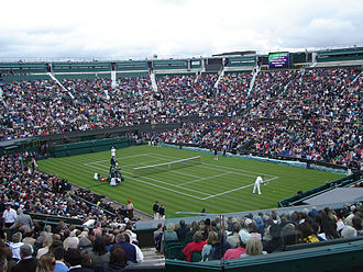 Tennis - A tennis match at Wimbledon's Centre Court (2007)