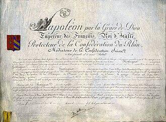 Hottinguer family - Napoleon I of France names Jean-Conrad Hottinguer Baron of the Empire