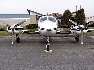 Cessna 421 - A Cessna 421B Golden Eagle, front view