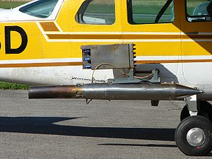 Silver iodide - Cessna 210 equipped with a silver iodide generator for cloud seeding