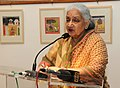 Chandresh Kumari Katoch addressing at the inauguration of the exhibition of Painting, Sculptures and Prints 'Ragas on Canvas', at the foundation day of the Lalit Kala Akademi, in New Delhi on August 05, 2013.jpg