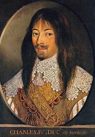 Battle of Willstätt - Portrait of Charles IV, Duke of Lorraine, by an unknown author.