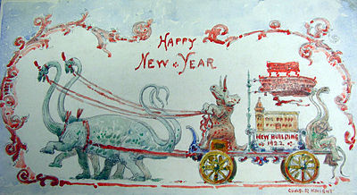 Charles R. Knight New Years's Card