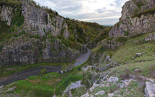 Cheddar Gorge Valley in Somerset, England