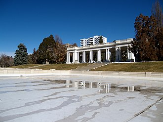 Cheesman Park, Denver - The Cheesman Pavilion, dedicated 1908