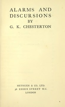 Chesterton - Alarms and Discursions (Methuen, 1910).djvu