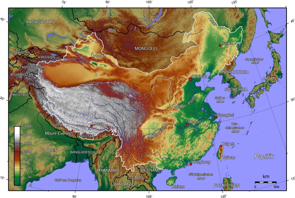 China topo