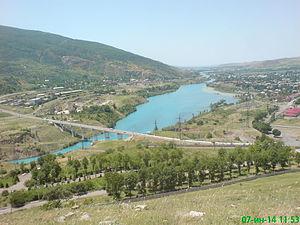 Chirchiq River - Chirchiq River near Chorvoq