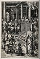 Christ among the doctors. Engraving by A. de Bruyn, c. 1580, Wellcome V0034689.jpg
