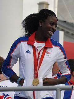 Christine Ohuruogu British female 400m runner