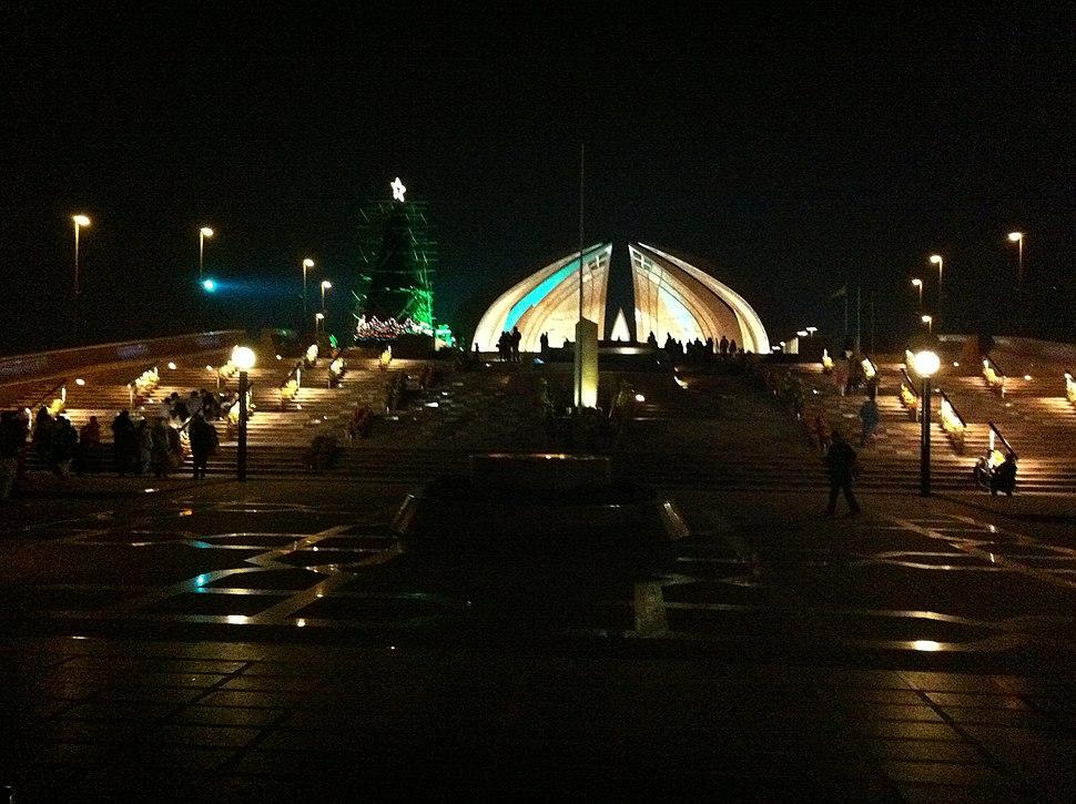 Christmas Tree at Pakistan Monument Night view
