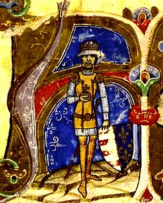 Charles I of Hungary - Charles depicted in the Illuminated Chronicle