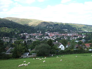 Church Stretton town in Shropshire, England