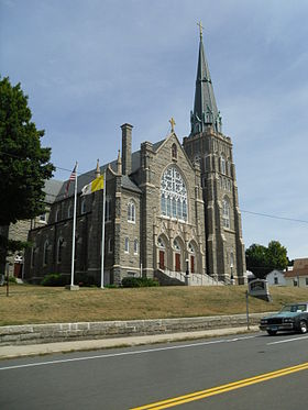 Église à Winsted, quartier de Winchester.