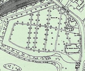 St Mary's Church, Handsworth - 1904 Ordnance Survey map of St Mary's