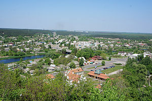 Chyhyryn - View of Chyhyryn from the city's Castle Hill.