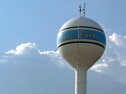 The Cissna Park water tower