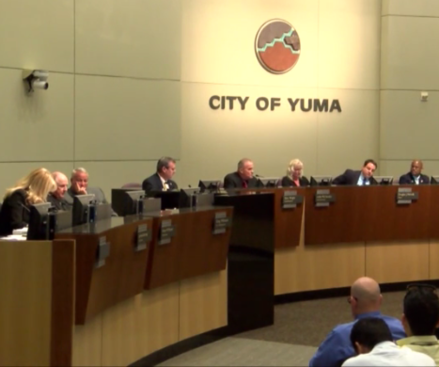 A meeting of the City Council of Yuma. City Council of Yuma,AZ, USA.png
