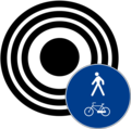 City center allowed only to pedestrians and bikes icon.png