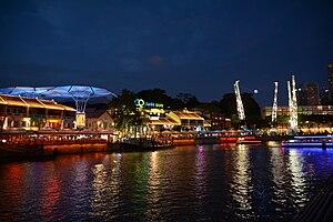 Clarke Quay - Clarke Quay at night