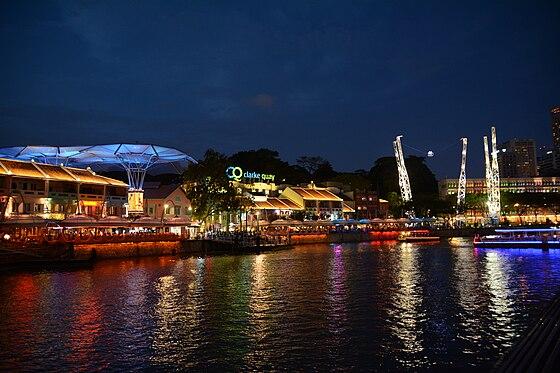 Pemandangan di Clarke Quay, Singapura.