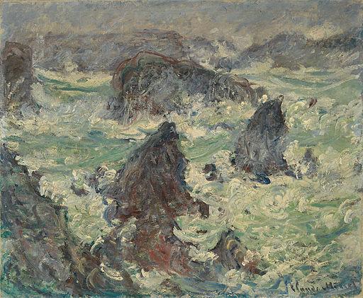 Claude Monet Tempête sur les Côtes de Belle-Île 1886