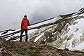 Climber viewing Glaciers along Boulder Ridge, Mt Baker Snoqualmie National Forest (31266934394).jpg
