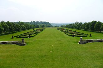 Parterre - Parterre at Cliveden, with restored 19th-century style planting.