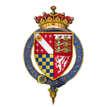 Coat of arms of Sir Henry Howard, styled Earl of Surrey, KG.png