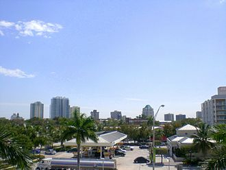 Coconut Grove - Skyline of Coconut Grove, as seen from its respective Metrorail station