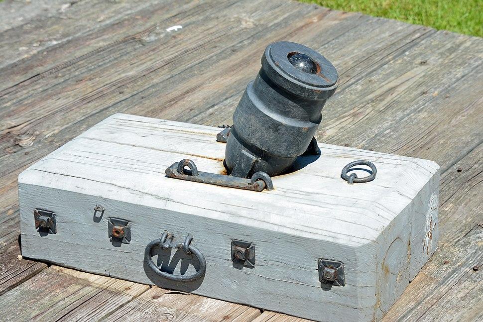 Coehorn mortar at Fort King George, Darien, GA, US