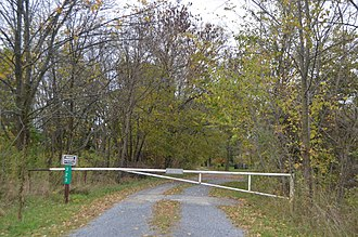 National Register of Historic Places listings in Fulton County, Pennsylvania - Image: Cold Spring Farm gated driveway