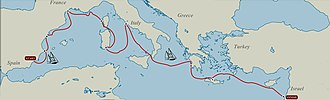Julie Angus - Colin and Julie's route from Spain to Syria
