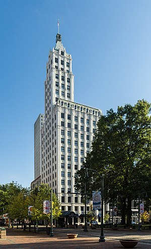 Lincoln American Tower - Image: Columbian Mutual Tower NRHP 78002631