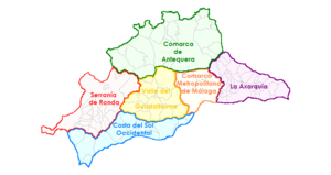 Province of Málaga - Regions of Málaga