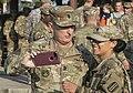 Command Sgt. Maj. David S. Davenport poses for a selfie with Spc. Kiara Dale.jpg