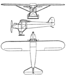Comte AC-4 3-view Le Document aéronautique October,1928.png