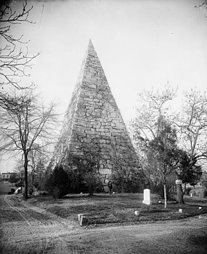 Hollywood Cemetery (Richmond, Virginia) - Pyramid, built as a memorial to Confederate enlisted men.