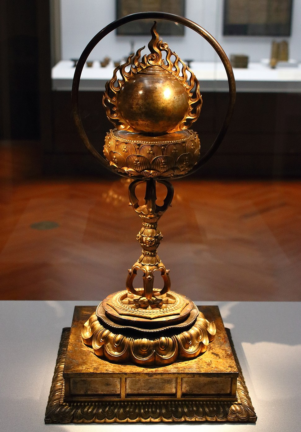 Container for Buddhist Relics in Shape of Flaming Sacred Jewel
