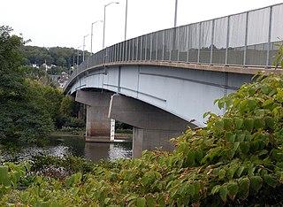 Coraopolis Bridge bridge over Ohio River back channel at Neville Island, Pennsylvania