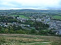 Corfe Castle Station and Village from East Hill - geograph.org.uk - 1052425.jpg