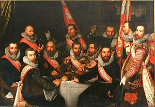 The Banquet of the Officers of the St. Adrian Militia Company in 1618