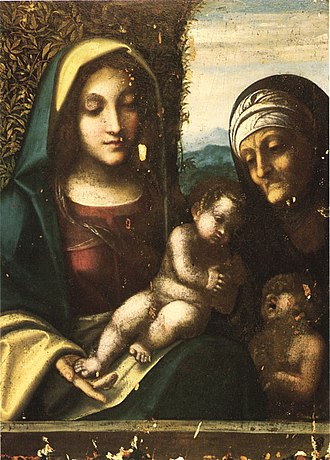 Madonna and Child with Saints Elizabeth and John the Baptist - Madonna and Child with Saints Elizabeth and John the Baptist