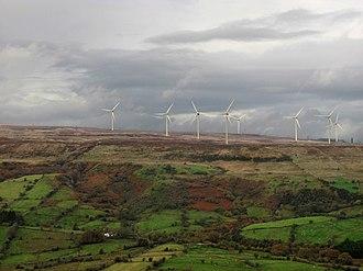 Renewable energy in the Republic of Ireland - Wind turbines on Leitrim's Corrie Mountain