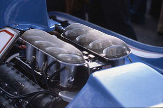 Cosworth - A Ford-Cosworth DFV on a Ligier JS11
