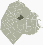 Location of Villa Crespo within Buenos Aires