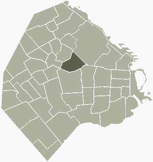 Villa Crespo - Image: Crespo Buenos Aires map