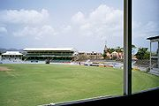 Cricket ground in St. John, Antigua.